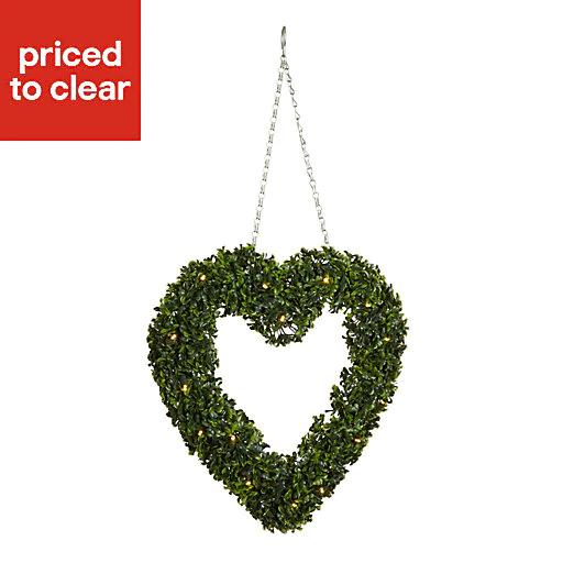 Smart Garden Pre-lit Artificial topiary heart - £8 @ B&Q