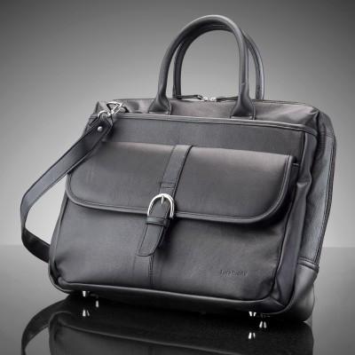 Soft Leather IT Ultimate Work Bag Black with Interior Multiple Organizer £14.38 delivered @ JTF