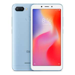 Xiaomi Redmi 6 3Gb/32gb dual sim in blue £79.99 @ Clove Technology