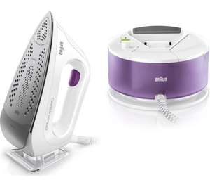 BRAUN CareStyle Compact IS2044 Steam Generator Iron - White & Violet - £99 @ Currys