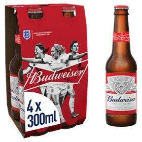 Free £4 of Budweiser with coupon (England only) e.g. 4x440ml cans / 4x300ml bottles - redeem at supermarkets (25,000 available) @ Budbeer
