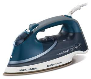Morphy Richards Steam Iron 303131 Turbosteam Pro with Intellitemp Steam Iron, blue white for £34.19 Delivered @ Amazon UK
