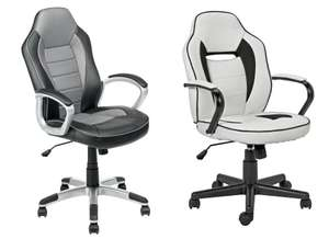 Home Racing Style Gaming Chair £44.99 / Mid Back Gaming Chair (White/Black) - £45.49 @ Argos
