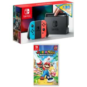 Nintendo Switch - Neon Red/Neon Blue with £30 eShop Credit Mario and Rabbids Kingdom Battle £279.99 GAME