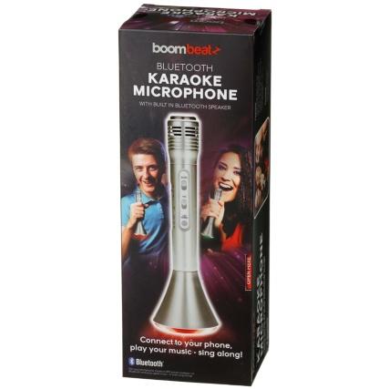 Boombeatz Bluetooth Karaoke Microphone - Silver £1 B&M