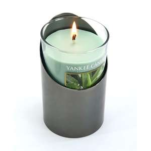 Yankee Aloe  Water Pillar Candle with free holder £4.75 with Free Delivery @ Yankee Bundles