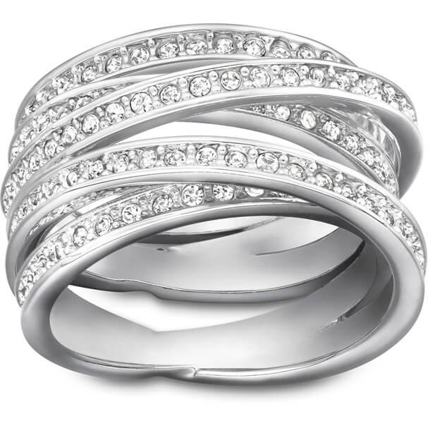 Swarovski Spiral Ring White, Rhodium plating 2 Sizes £37.50 / £41.95 delivered @ Swarovski Free C&C
