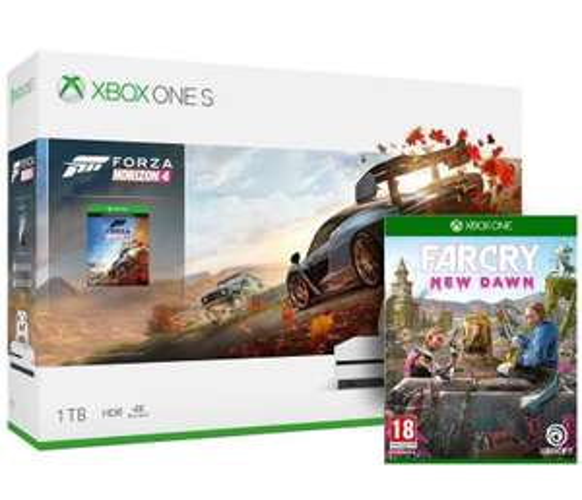 XBOX ONE S 1TB CONSOLE + FORZA HORIZON 4 - WHITE + FAR CRY NEW DAWN BUNDLE £209.99 Box.co.uk