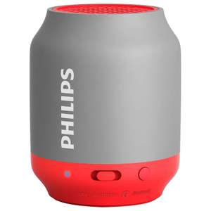 Philips Bluetooth Speaker - Grey & Red/Black (was £10) Now £7 @ B&M Instore Only