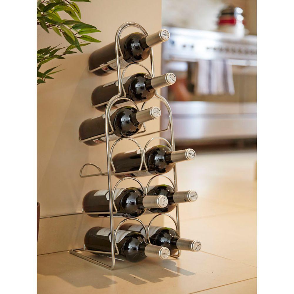 Hahn Pisa Metal Wine Rack, 10 Bottles, Chrome - £5 @ John Lewis & Partners (C&C £2 / Free with £30 spend)