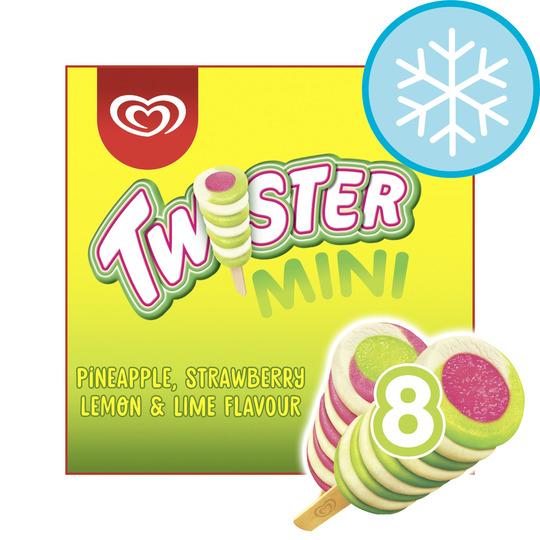 Twister Mini Ice Cream Lolly 8 X 50Ml - £1.50 @ Tesco