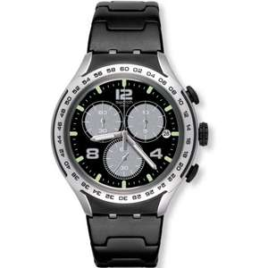 Unisex Swatch Night Attack Chronograph Watch YYS4026AG - £95 at The Watch Hut