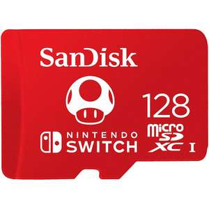 SanDisk 128GB Nintendo Switch Micro SD Card (SDXC) UHS-I U3 - 100MB/s for £19.99 Delivered @ Mymemory