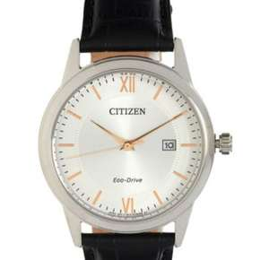 CITIZEN  Black Leather Analogue 40mm Eco-drive Watch - £49.99 at TK Maxx