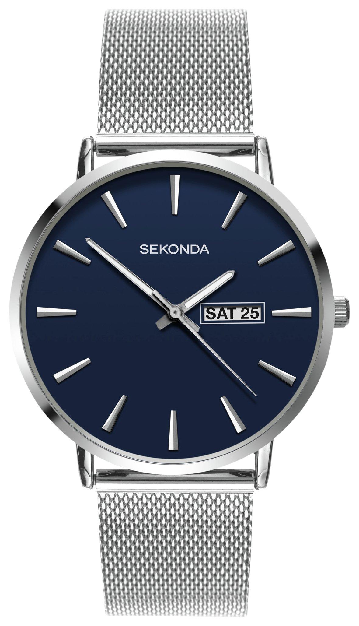 Sekonda Men's Stainless Steel Mesh Bracelet Watch @ Argos Free C&C £24.99
