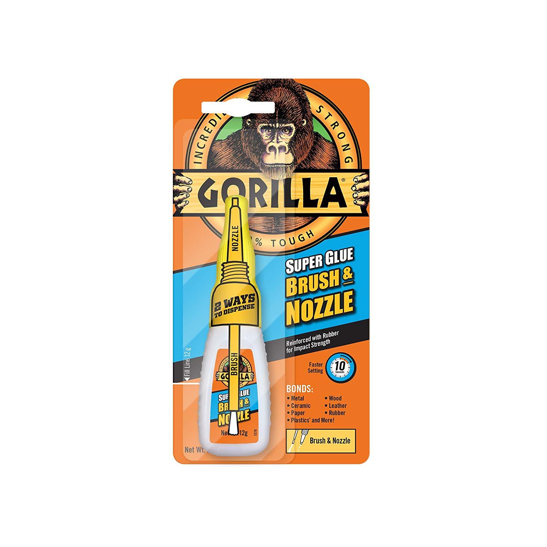 GORILLA Super Glue 12g 2-in-1 Brush and Nozzle Superglue - Clear £1.29 @ Aldi