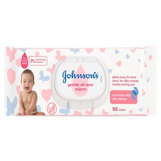 Johnson's Baby Wipes 56Pk 65p @ Tesco