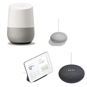 Google Home + Home Mini £79  / Google Home Hub + Home Mini £94 / Home Mini £24 / Google Home £59 / Home Hub £79 @ BT Shop