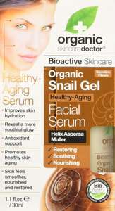 Snail Trail Gel! Dr.Organic Helix Aspersa Muller Face Serum 30 ml Size - £8.99 Amazon Prime or + £4.49 Non-Prime Delivery  @ Amazon