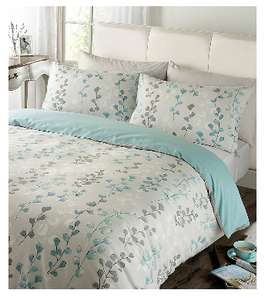 Duvet Cover and Pillowcase Set In Blue and Green Single - £2.64 C&C @ The Range