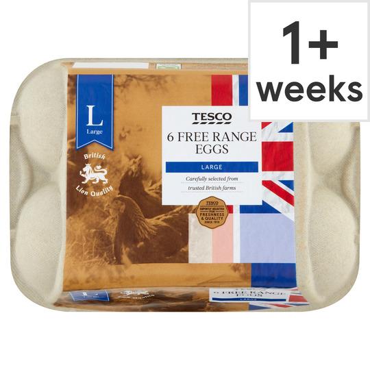 6 large free range eggs 35p instore @ Tesco