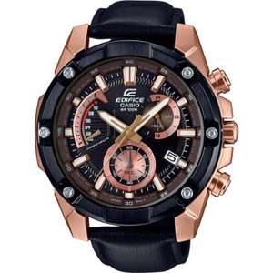 Casio Mens Edifice Watch EFR-559BGL-1AVUEF with Black Leather Strap £89 + Free ND Delivery with code @ Watches2u
