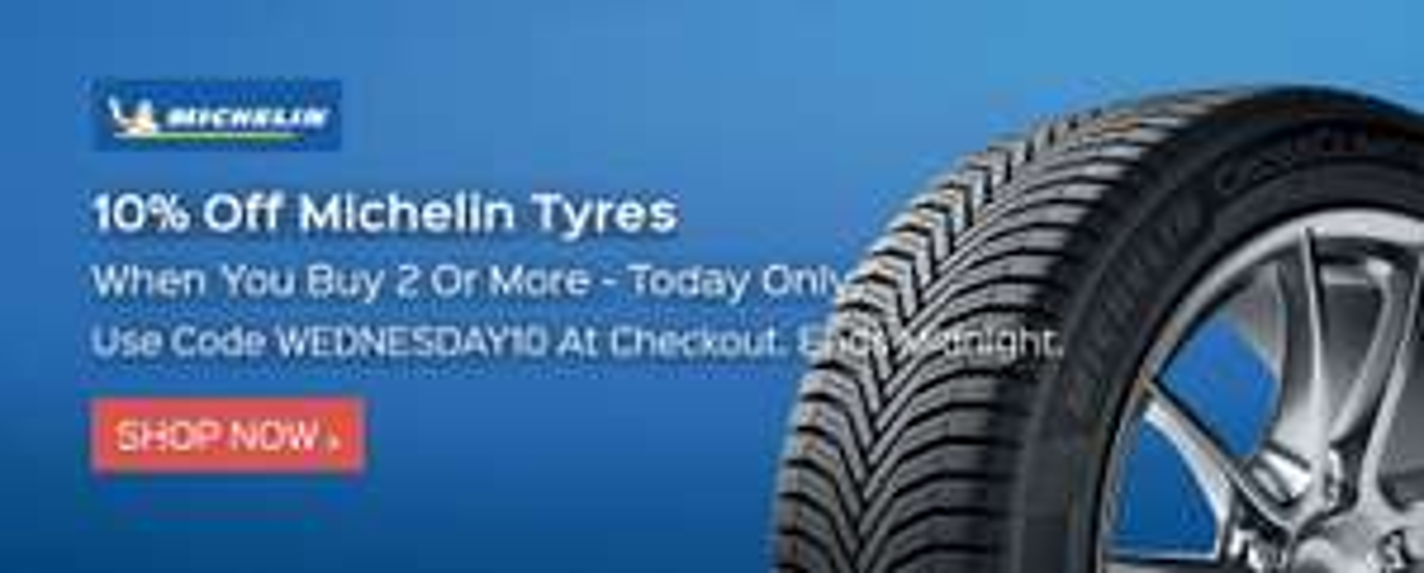 10% off 2 Michelin Tyres @ Kwik Fit