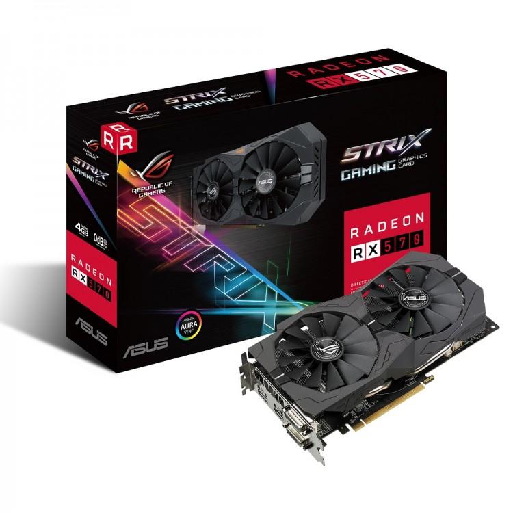 Asus Radeon RX 570 Strix 4GB GDDR5 PCI-Express Graphics Card, £108.89 @ Overclockers