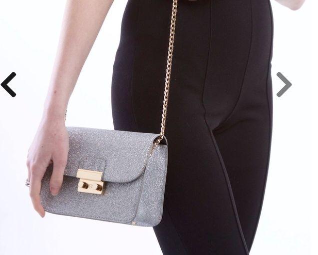 Silver Glitter Handbag £13 Free Del @ SilkFred