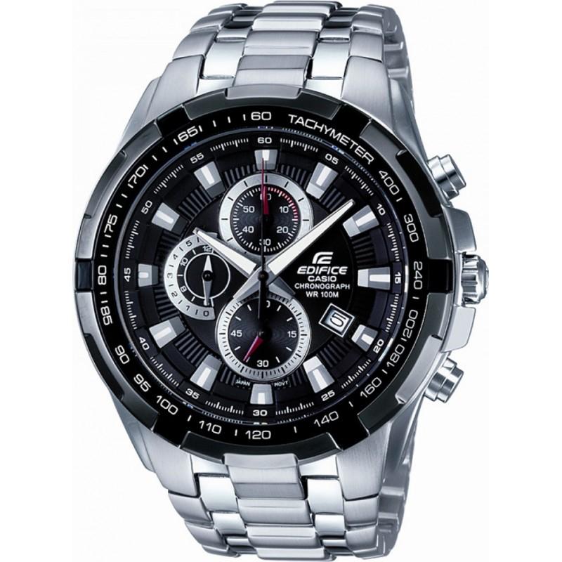 Casio Mens Edifice Black Silver Chronograph Watch - £69 at Watches2U