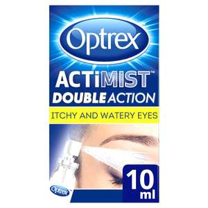 Optrex 2-in-1 ActiMist Itchy and Watery Eye Spray, 10 ml - £6.15 (Prime) £10.64 (Non Prime) @ Amazon