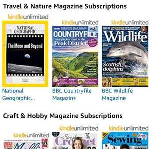 Amazon have now added magazines to their Kindle unlimited deal £7 99