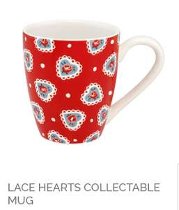 LACE HEARTS COLLECTABLE MUG £6 Free C&C or £3.95 Del @ CathKidston Teachers Gift