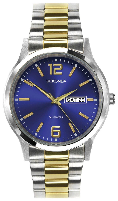 Sekonda Men's Two Tone Steel Bracelet Day and Date Watch+ 2Yrs Guarantee  for £19.99 @ Argos