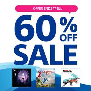60% off sale at PlayStation PSN Store Indonesia - Burnout Paradise Remastered £6.33 / Unravel Two £6.33 / Fe £6.33