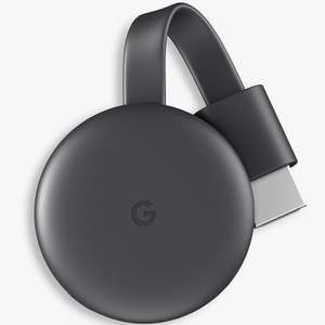 Google Chromecast 3rd Gen - John Lewis and Partners - £20 (+ £2 C&C or £3.50 Delivery)