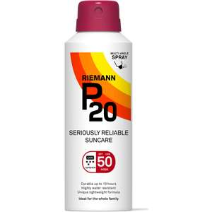 Riemann P20 SPF50 Continuous spray 150ml HALF PRICE @ Boots instore - £12.47