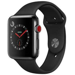 Apple Watch Series 3, GPS and Cellular, 42mm Space Black Stainless Steel Case with Sport Band, Black - £400 @ John Lewis & Partners