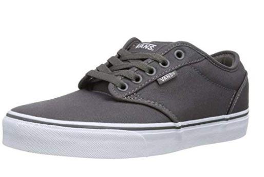Vans Men's Atwood Canvas Grey Low-Top Sneakers £25 Amazon