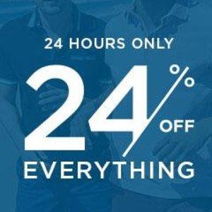 24% Off Everything @ Burton Menswear
