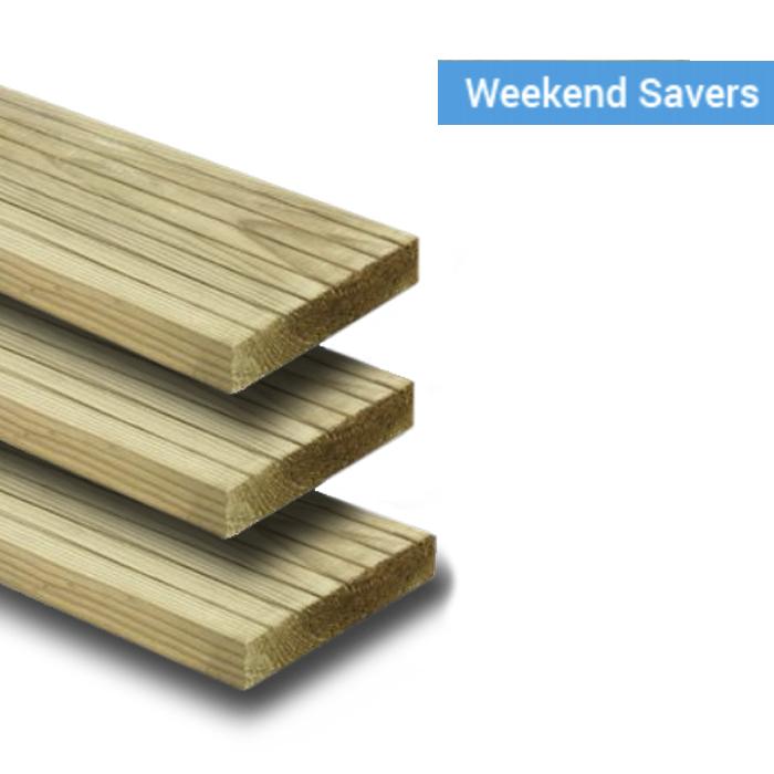 Wickes Pressure Treated Deck Boards - 25mm x 120mm x 2.4m - £4 Each @ Wickes - Free C&C