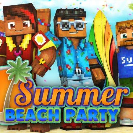 Minecraft Summer Sale & Daily Deals,  Summer Beach Party Skin pack (All Platforms) for FREE @ Minecraft