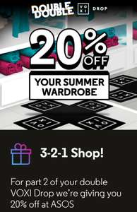 NOW LIVE: VOXI Double Drop Part 2: 20% OFF ASOS Voucher for VOXI and Vodafone customers
