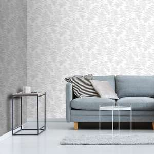Silver Fern Leaf Wallpaper £3.25 roll ( others see post ) @ Wilko ( Instore )