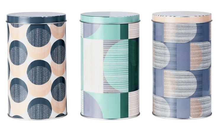 Argos Home Set of 3 Stockholm Storage Tins @ Argos Free C&C £5