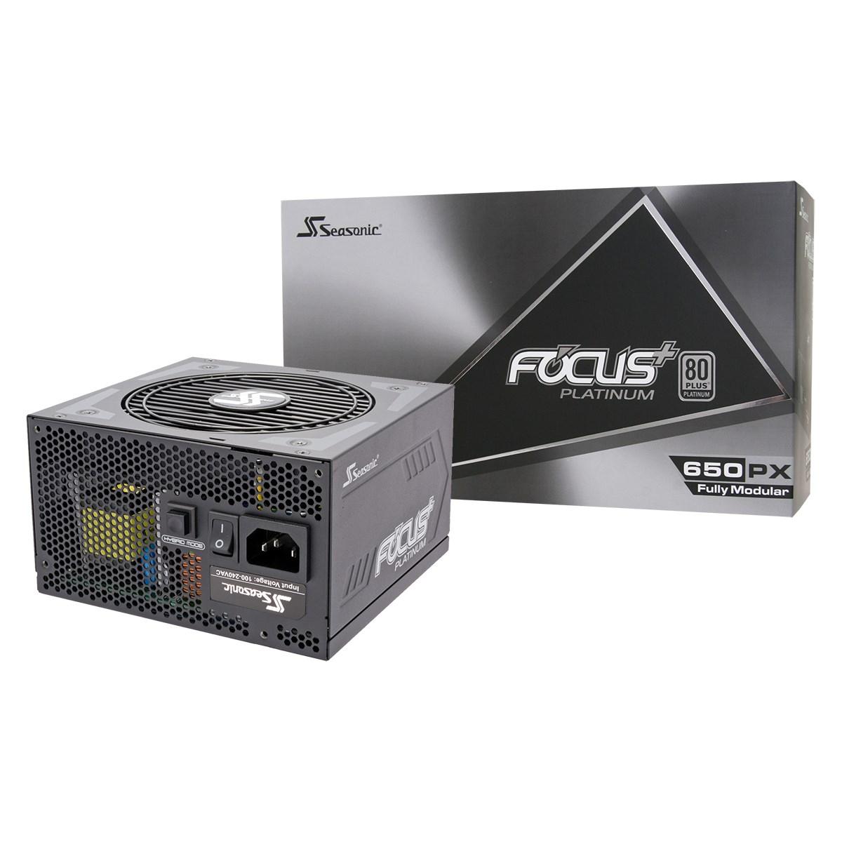 Seasonic Focus Plus+ 650 Watt Platinum Modular PSU/Power Supply, £85.47 at Scan