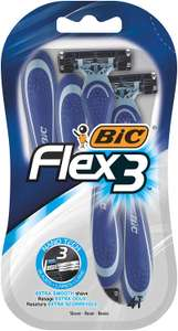 Bic flex 3 ( 4 in a pack) was £3 now £1.50 instore @ Tesco Knightswood