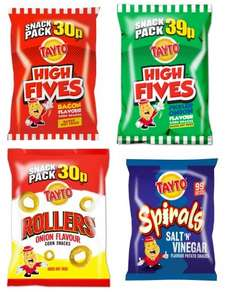 Assorted Tayto Crisps 25g Bags 19p Each @ Home Bargains