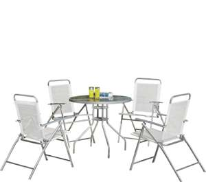 Simple Value 4 Seater Metal Patio Set - Silver - £51.99 @ Argos