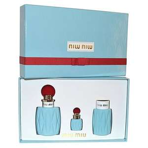 DEBENHAMS In store > Miu Miu 3 Piece Gift Set £53 (EDP100ml + Body Lotion100ml + Mini EDP 7.5ml)